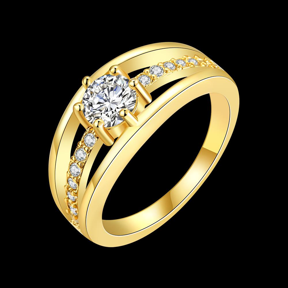18k Gold Plated with AAA Zircon Diamonds Ring .