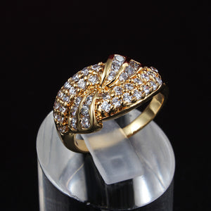 Classic 18K Gold Plated Ring with Top Quality CZ Diamond