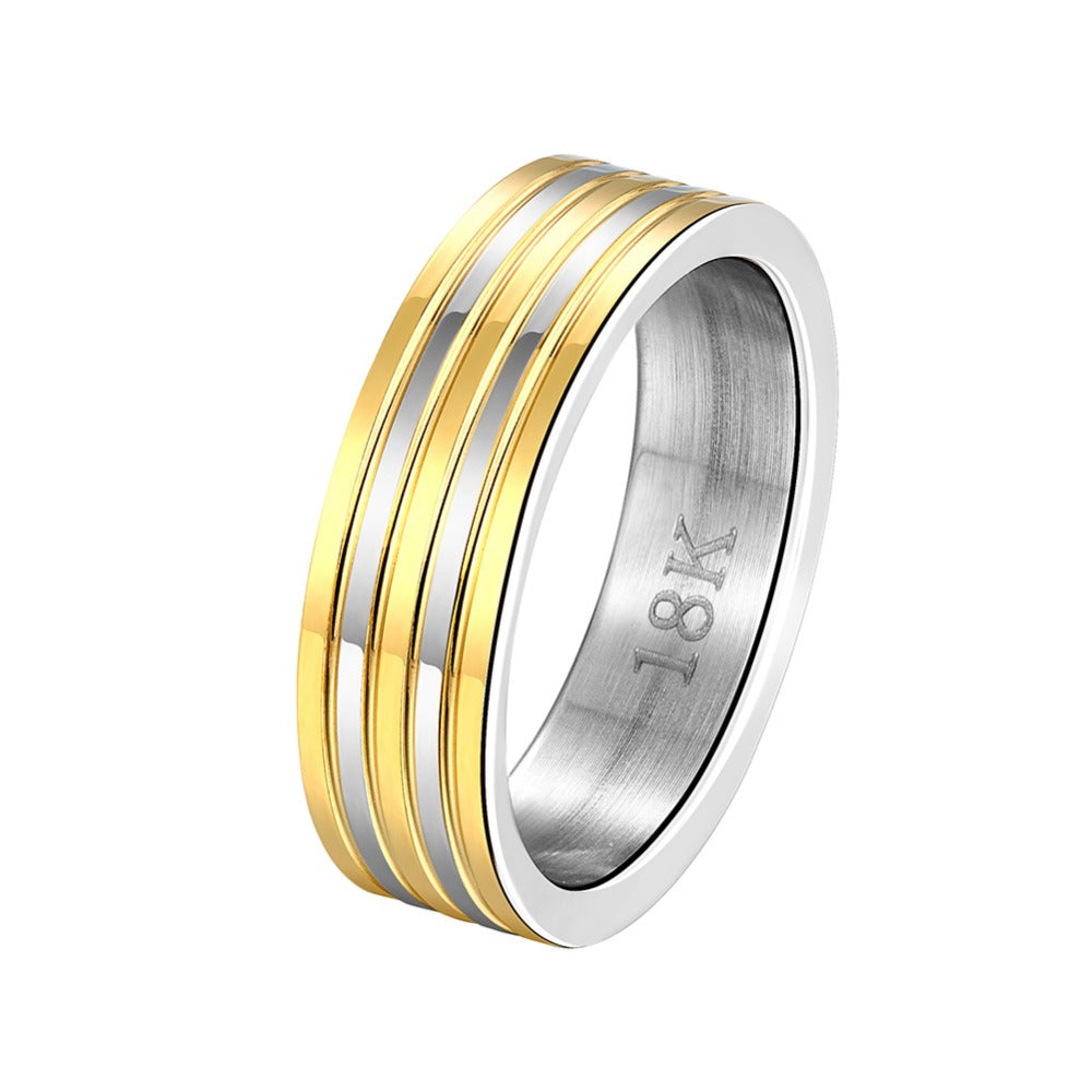 18k Gold Plated Stainless Steel simple and Elegant Unisex Ring.