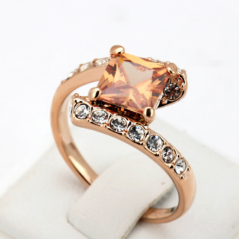 2018 Fashion 18K Gold Plated  with Premium Zircon Ring