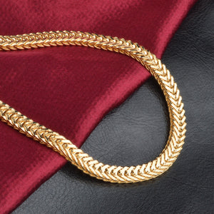 18k Genuine Gold Plated Chain 50 cm(20 inch)Length ,6 mm width