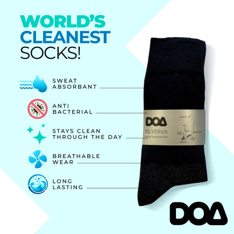 silver-pro non smelly antibacterial socks