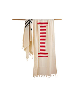 Super soft, easy to carry cotton peshtemal towel made of 100% high quality Aegean long fiber cotton.