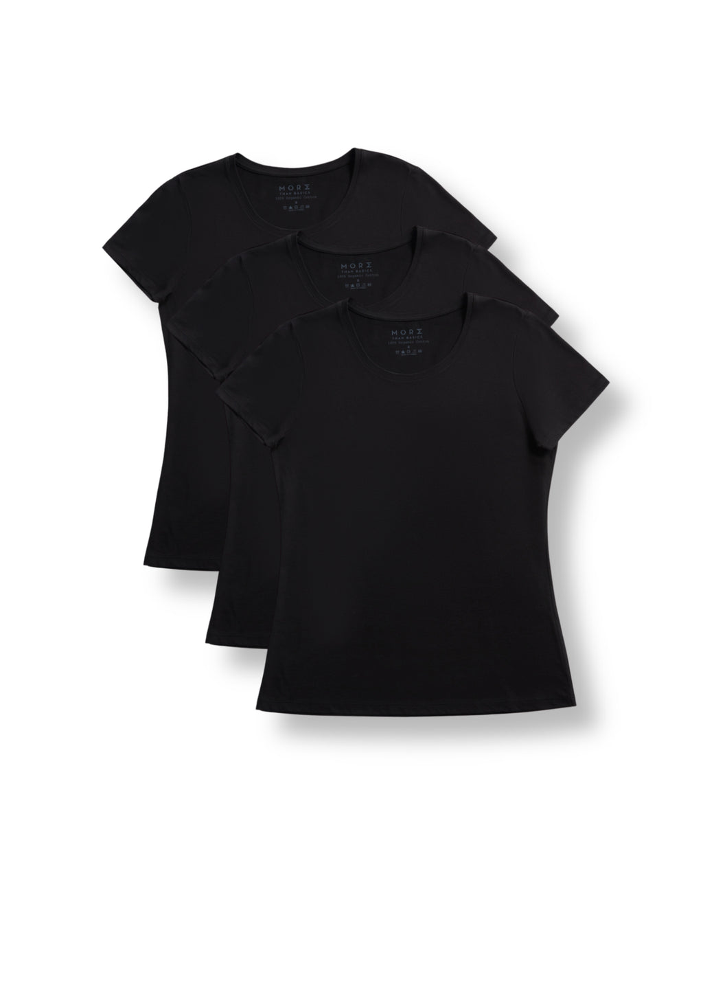 Women's TENCEL Modal Short-Sleeve Basic T-shirt 3-Pack