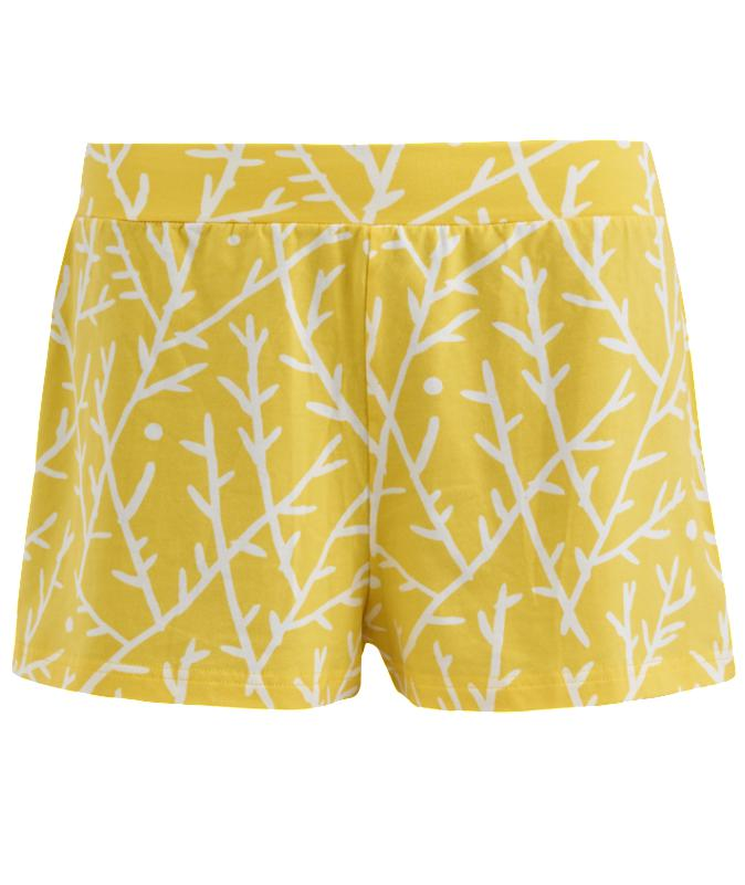 High quality shorts for women, made of GOTS certified organic cotton. Yellow Sticks by Rich&Vibrant.