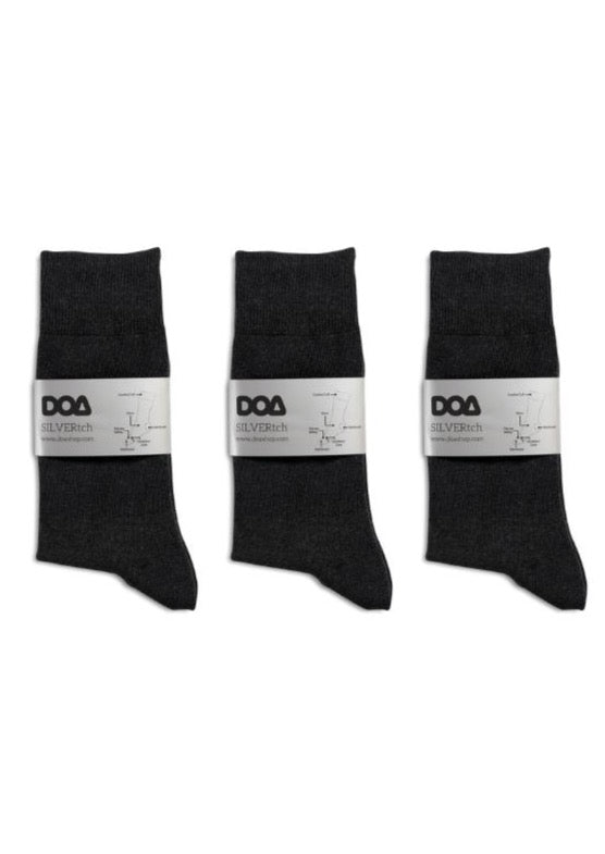 silver-pro antibacterial, odourless, comfort cuff socks (3-pack)