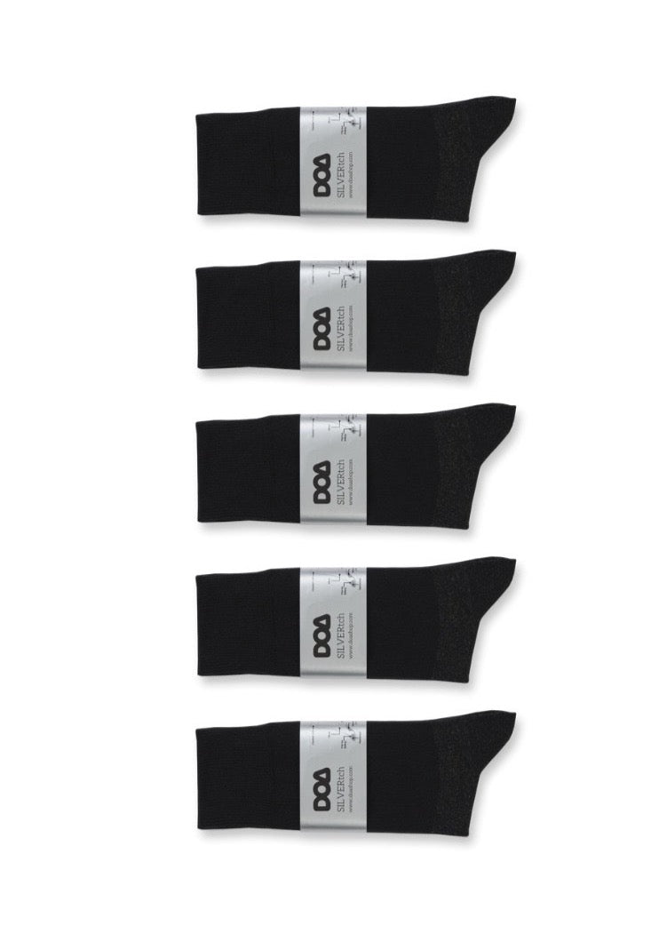 silver-pro antibacterial, odourless, comfort cuff socks (10-pack)