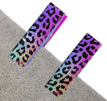 Load image into Gallery viewer, Rainbow Leopard Towel Clips