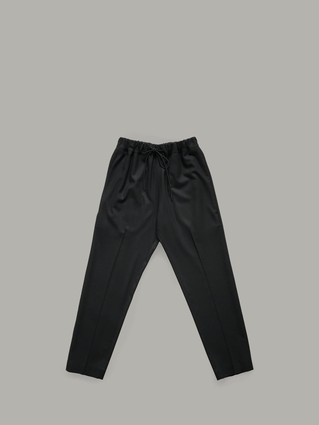 WOOL TROUSERS WITH DRAWSTRING WAISTBAND