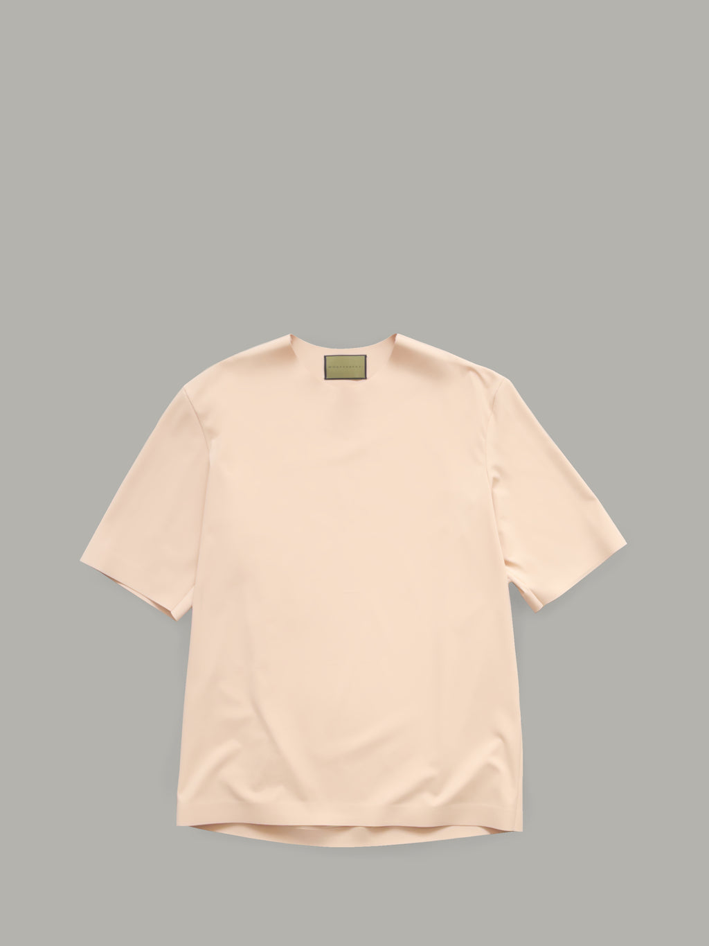 ROUND NECK T-SHIRT WITH BONDED DETAILS - NUDE