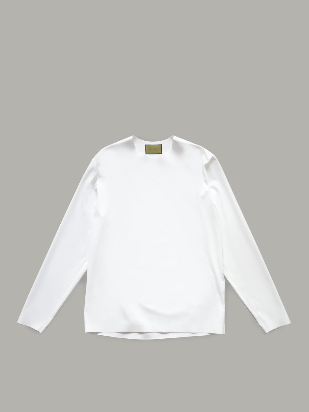 BONDED BASIC TOP WITH LONG SLEEVES - WHITE