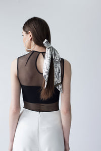 NECK-BOW SILK SCARF