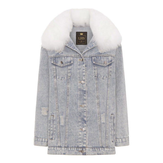 DENIM JACKET ONE SIZE // WHITE