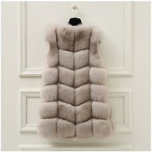 Load image into Gallery viewer, FUR VEST // TAUPE