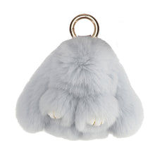 Load image into Gallery viewer, FUR RABBIT KEYCHAIN // LIGHT BLUE