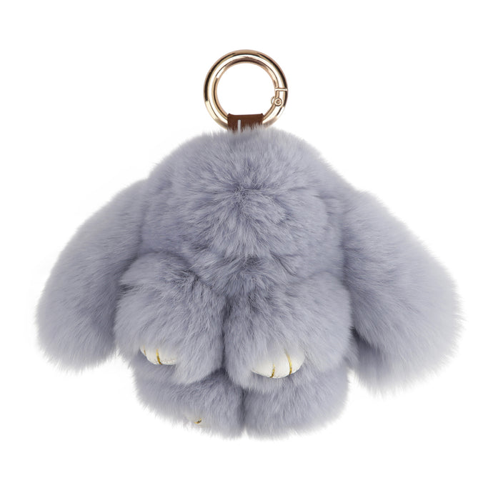 FUR RABBIT KEYCHAIN // BLUE