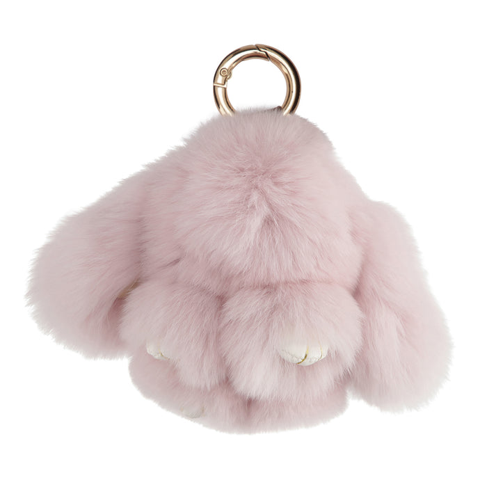 FUR RABBIT KEYCHAIN // PINK