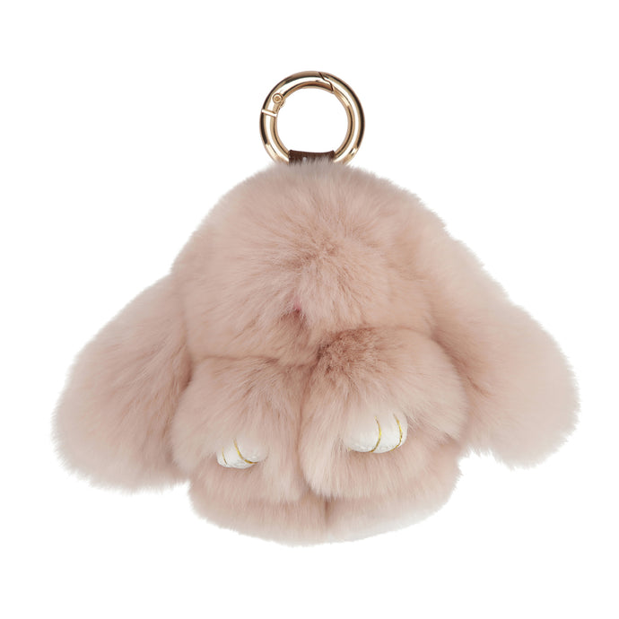 FUR RABBIT KEYCHAIN // NUDE