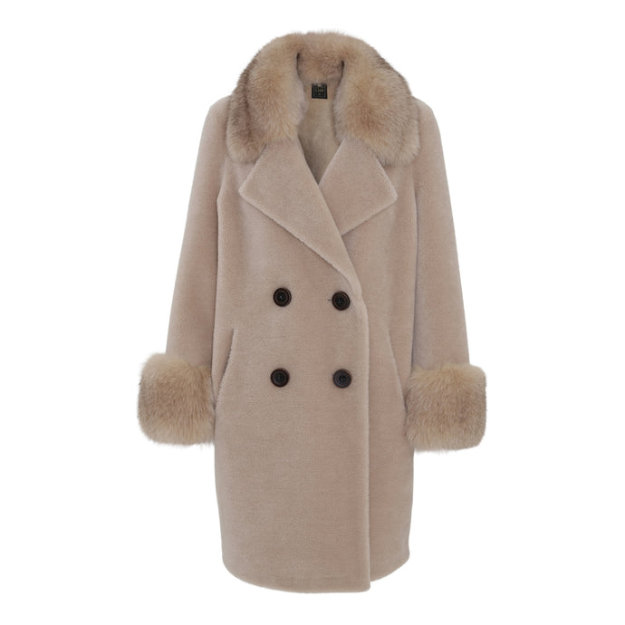 'TEDDY' COAT // LIGHT BEIGE