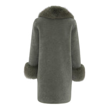 Load image into Gallery viewer, 'TEDDY' COAT // DUSTY GREEN