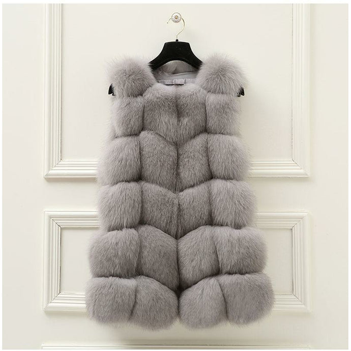 FUR VEST // LIGHT GREY