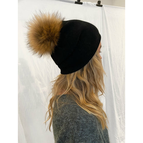 FUR HAT // BLACK RACCOON
