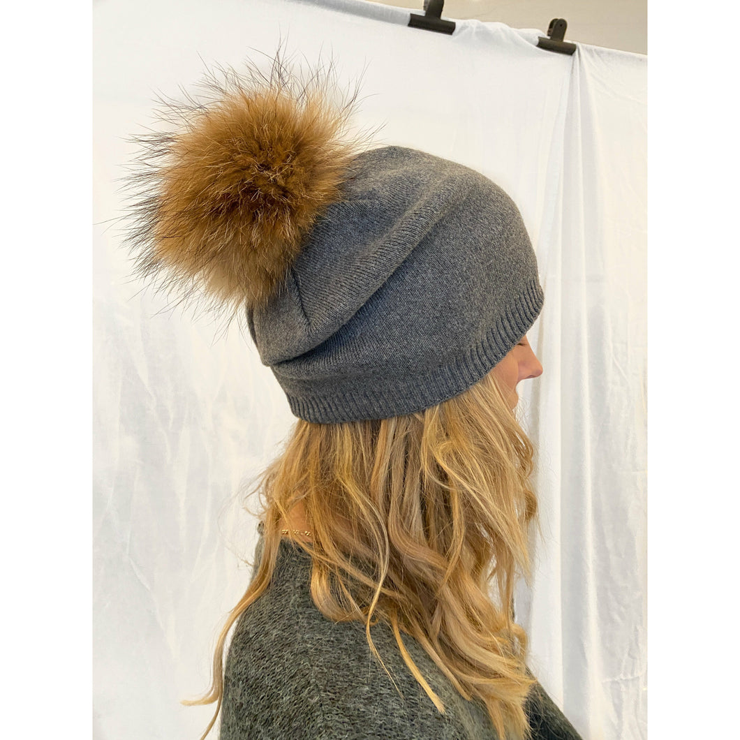 FUR HAT // DARK GREY