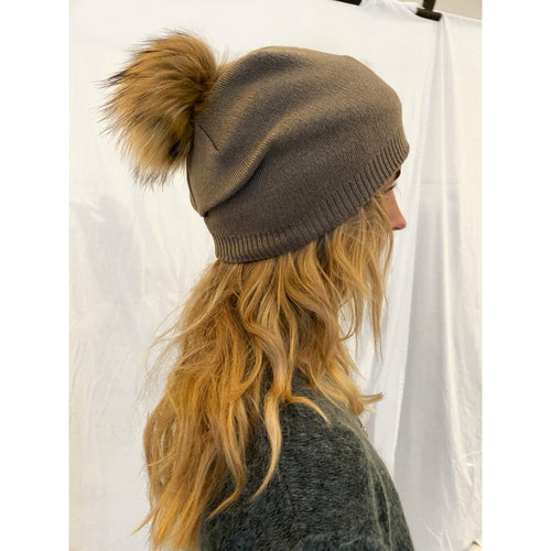FUR HAT // BROWN