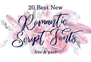 20 Best New Romantic Script Fonts, Free and Premium