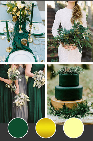 10-Fall-Wedding-Colors_Emerald-Gold-Light-Yellow