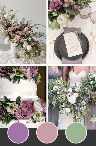 10-Fall-Wedding-Colors_Lavender-Mauve-Leaf-Green