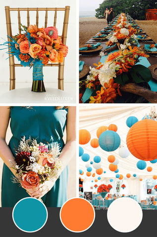 10-Fall-Wedding-Colors_Teal-Orange-Ivory