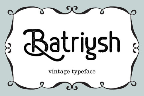 Batriysh-Vintage-Font-Free-for-Personal-Use-Typeface