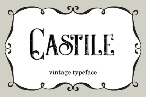 Castile-Vintage-Font-Typeface-Personal-Use-Only