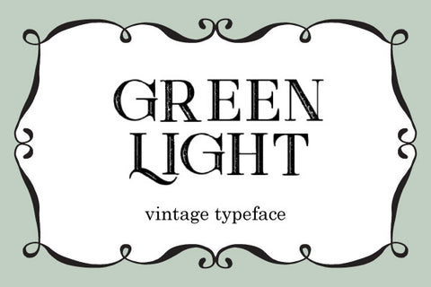 Green-Light-Vintage-Typeface-by-Peter-Olexa