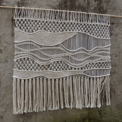 Hand Woven Large Macrame Hanging by WallKnot - Five Gorgeous Macrame Wall Hangings
