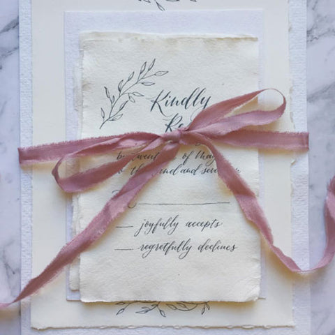 Handmade Wedding Paper Suite-by Teresa Ling Calligraphy
