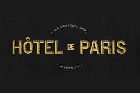 Hotel de Paris Luxury Vintage Font