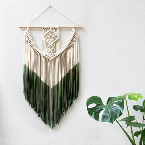 Macrame Dip Dyed Wall Hanging by TeddyandWool - Five Gorgeous Macrame Wall Hangings