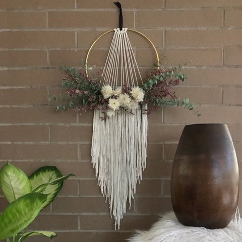 Macrame Wall Hanging with Dried Flowers by Botanica Floral Co - Five Macrame Wall Hangings