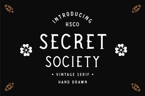 Secret Society Vintage Hand Drawn Font Family
