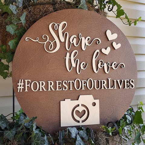 Share The Love Wedding Hashtag Sign by NeedmoreHeart