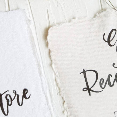 Soft Edged Wedding Invitations by Grace Song Calligraphy