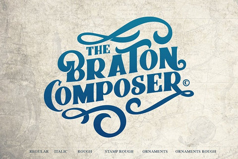 The Braton Composer Bold Decorative Vintage Font