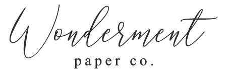 Wonderment Paper Co Logo