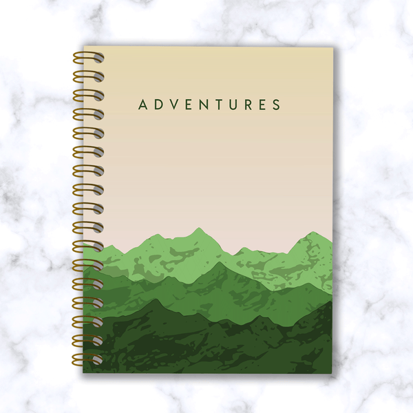 Adventures-Mountain-Range-Travel Notebook_Front Cover