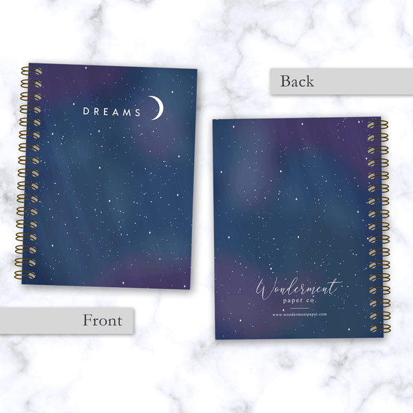 Dreams-Spiral-Notebook-Starry-Night-Design_Front-and-Back