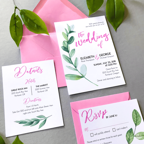 Pink-and-Green-Leaf-Wedding-Suite-Full-Sample-Set