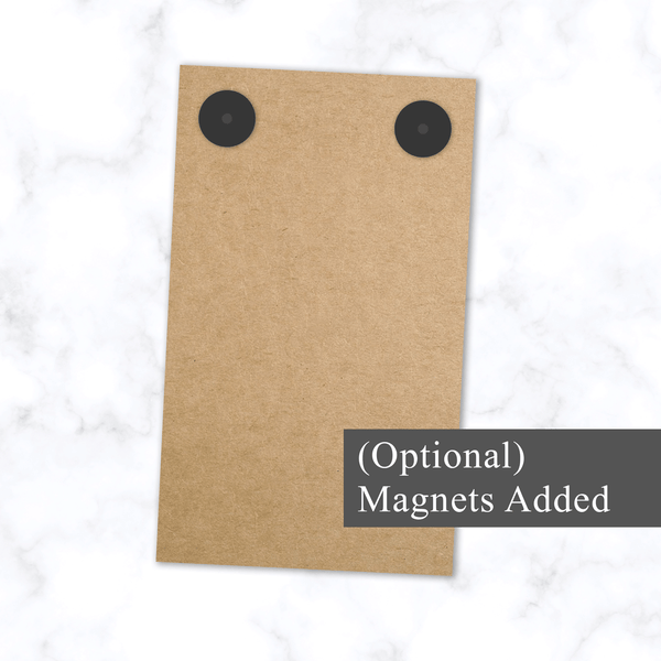 Small 100 Page Notepad - Back View with Optional Magnetic Back - Two Small Round Magnets Added for Attaching to Fridge or File Cabinet