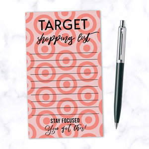 Target Shopping List Note Pad with 100 Pages - Funny Housewarming Note Pad for Department Store Shopping Lists - Magnetic Back